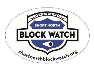 Short North Block Watch window decals