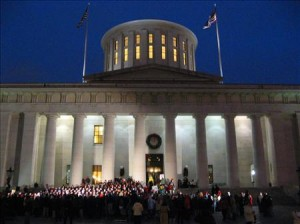 ohio statehouse holiday