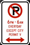 Hubbard Ave Parking Sign
