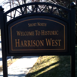 short north harrison west sign