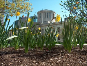 ohio statehouse in spring