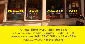short north summer sale 2013
