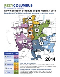 Columbus Recycling 2014 map