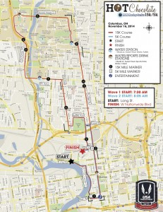 Hot Chocolate 15k:5k Columbus Map