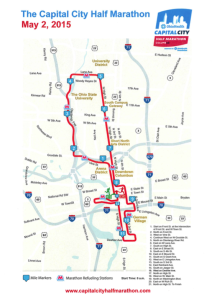 Capital City Half Marathon Columbus Map
