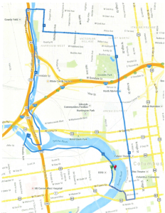 Columbus 10K Race Map