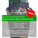 Electronics Recycling Drive flier